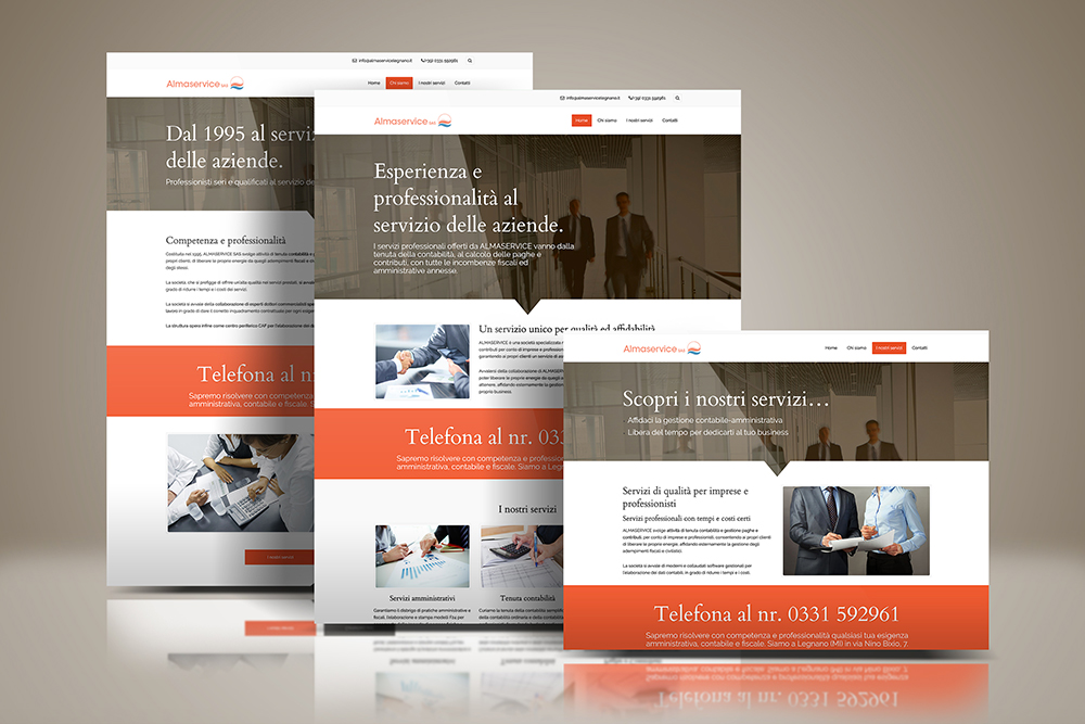 Tauruslab: Realizzazione sito web ALMASERVICE CONTABILITA