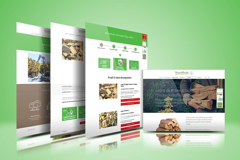 Tauruslab: Realizzazione sito web BOSCO VERDE Legna da ardere italiana