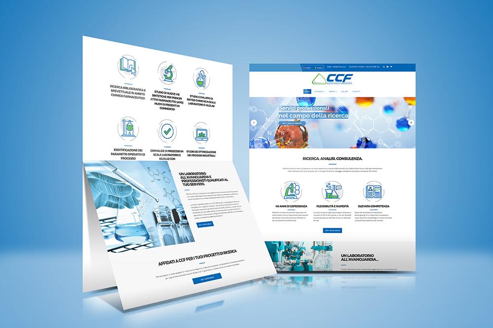 Tauruslab: Realizzazione sito web CCF RICERCA CHIMICO FARMACEUTICA