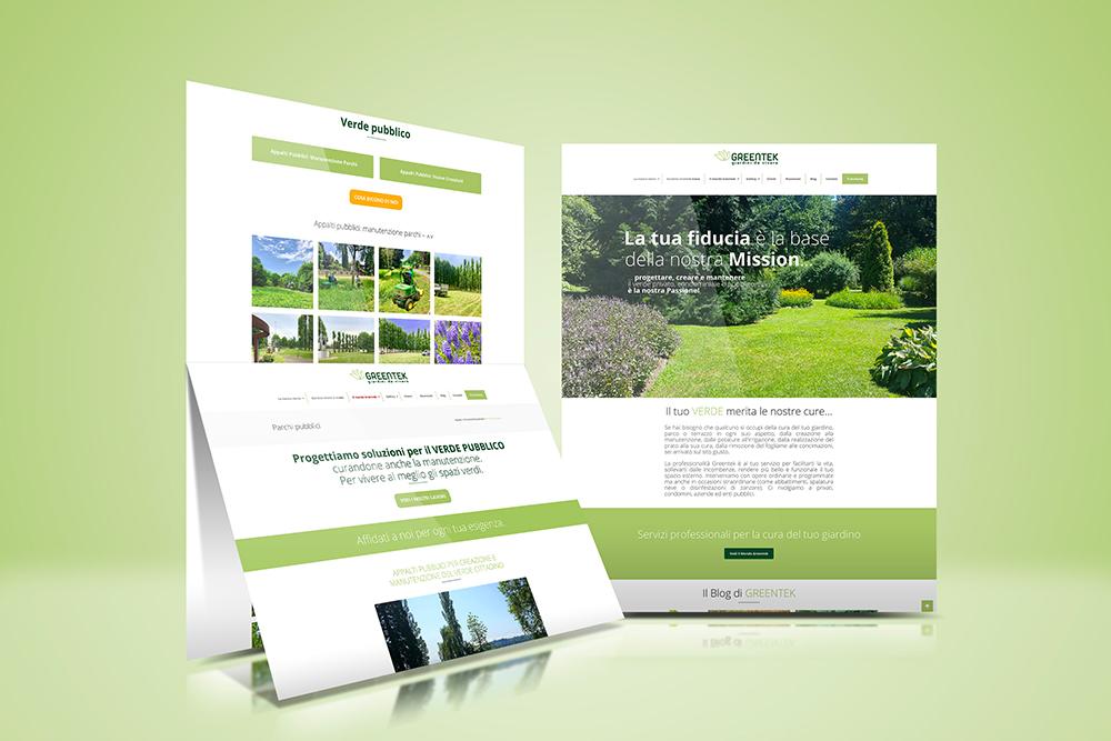 Tauruslab: Realizzazione sito web GREENTEK Giardini da vivere