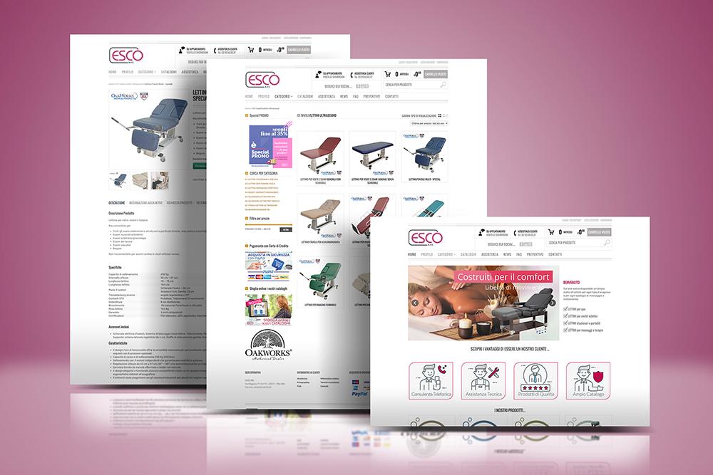 Tauruslab: Realizzazione sito web LETTINI DA MASSAGGIO by ESCO