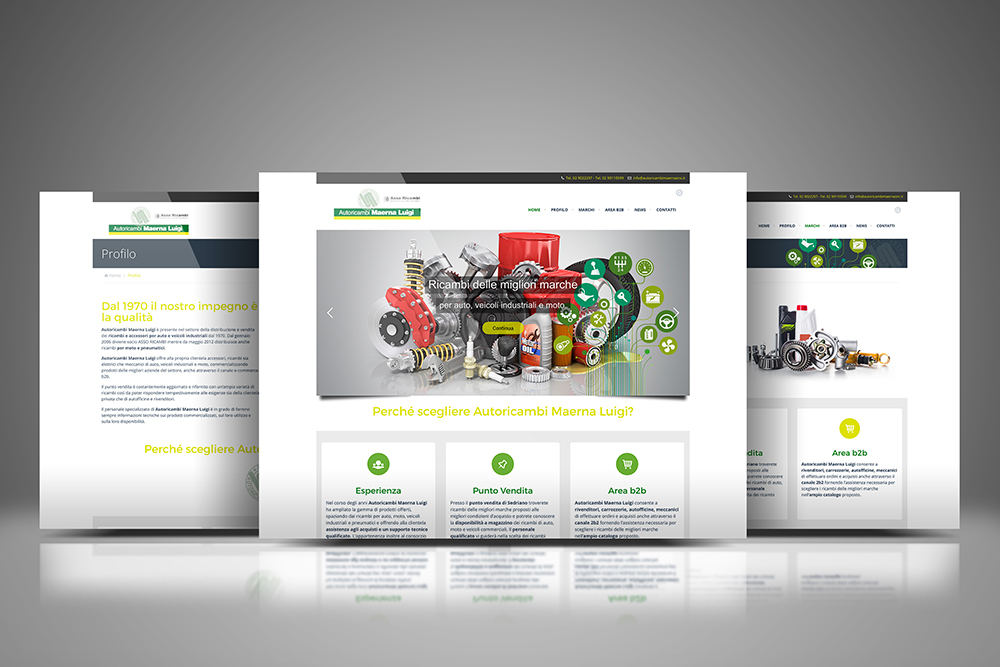 Tauruslab: Realizzazione sito web AUTORICAMBI MAERNA LUIGI