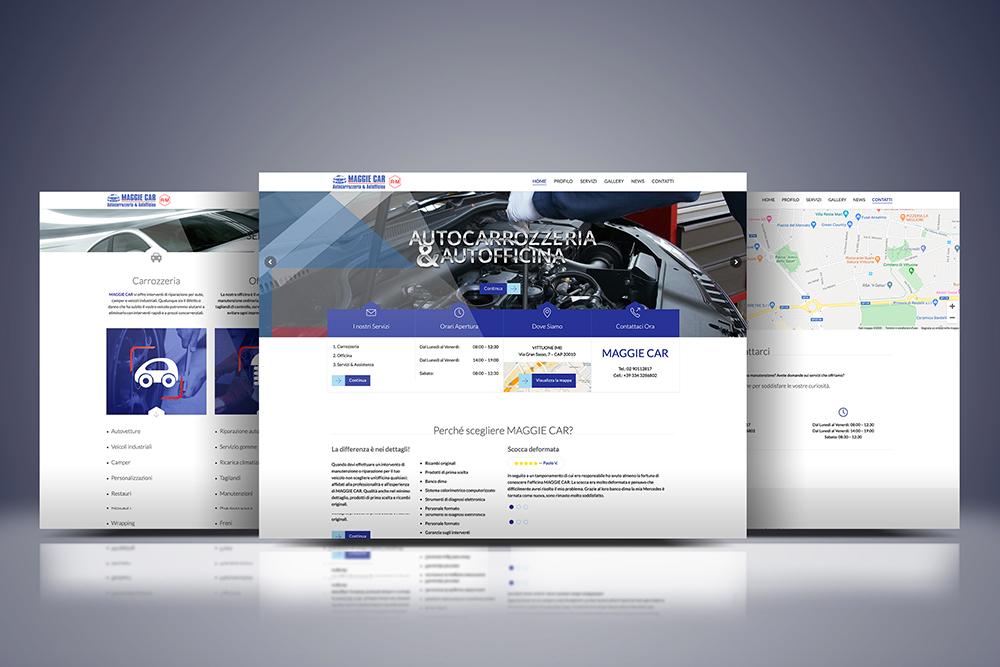 Tauruslab: Realizzazione sito web MAGGIE CAR Autocarrozzeria e Autofficina