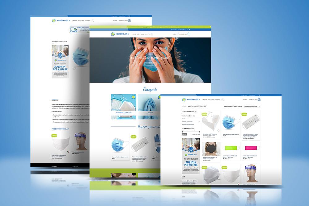 Tauruslab: Realizzazione sito web MASCHERINAEDPI