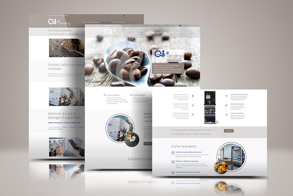 Tauruslab: Realizzazione sito web QI VENDING Distributori automatici