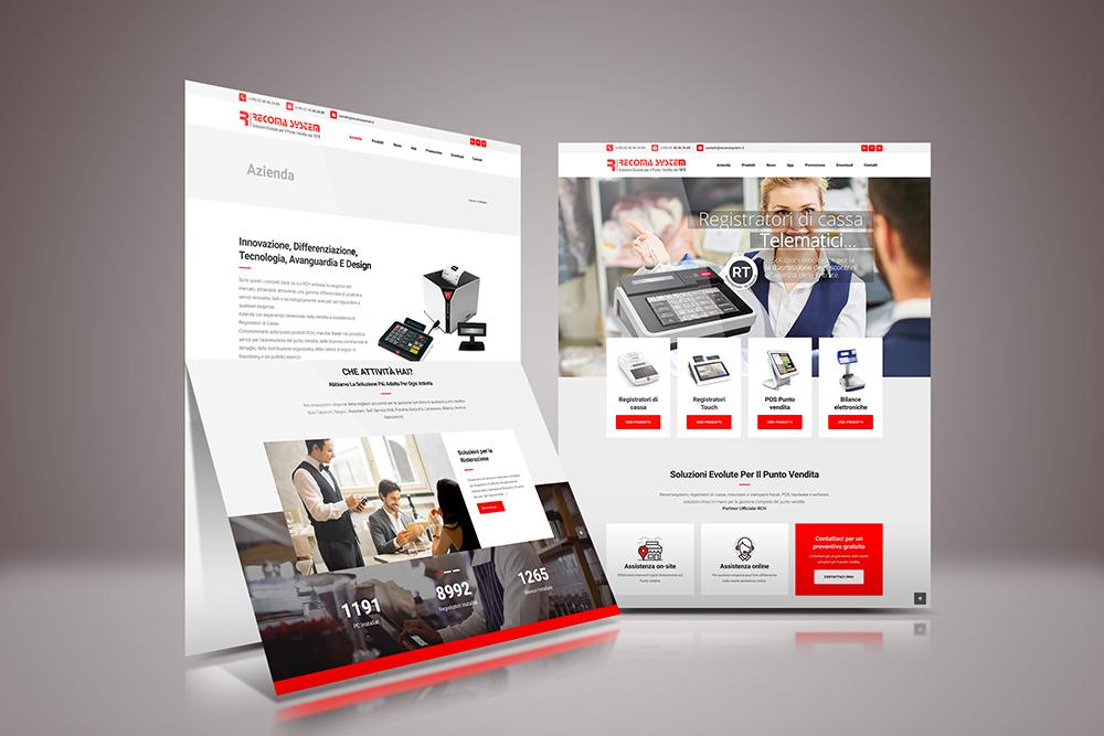Tauruslab: Realizzazione sito web RECOMASYSTEM Soluzioni evolute per il punto vendita