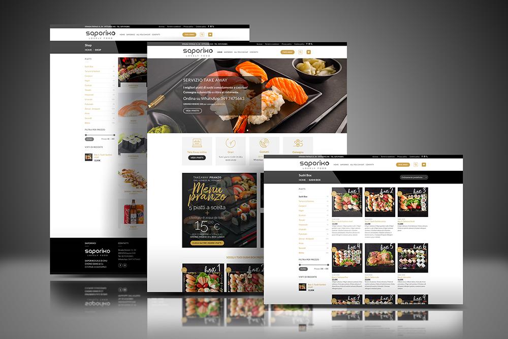 Tauruslab: Realizzazione sito web Ristorante SAPORIKO
