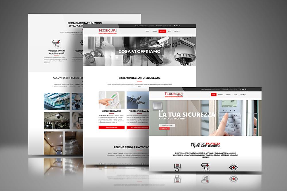 Tauruslab: Realizzazione sito web TECSICUR SISTEMI INTEGRATI DI SICUREZZA