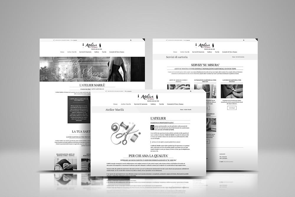 Tauruslab: Realizzazione sito web ATELIER MARILU Sartoria