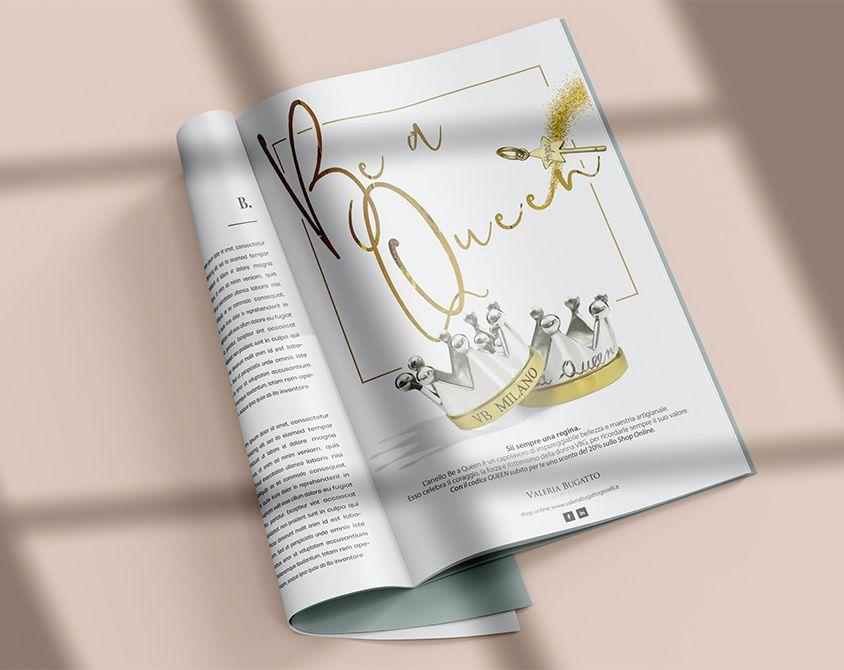 Pagina pubblicitaria Valeria Bugatto Gioielli