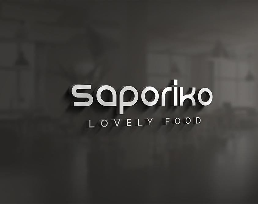 Naming e realizzazione logo ristorante Saporiko
