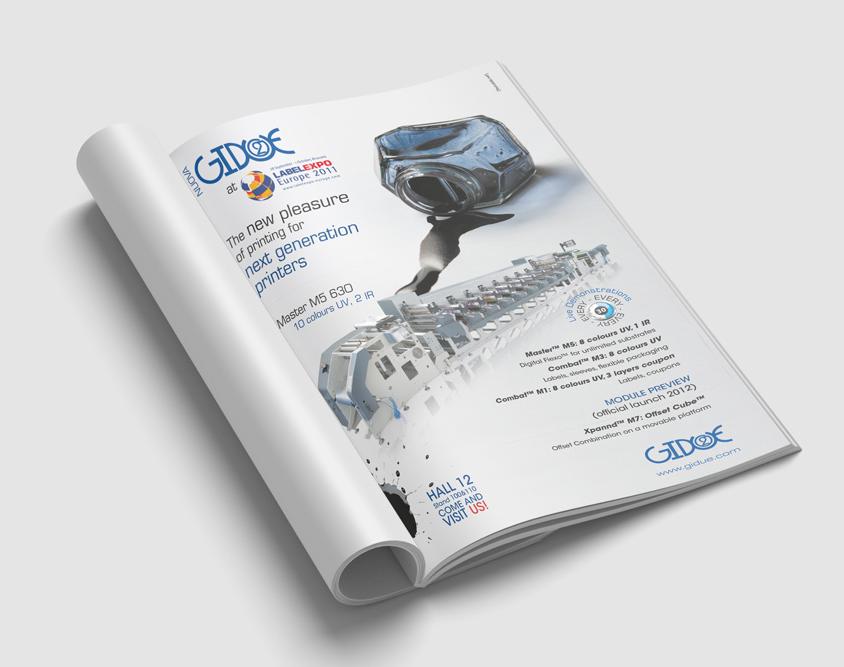 Pagina pubblicitaria GIDUE Labelexpo