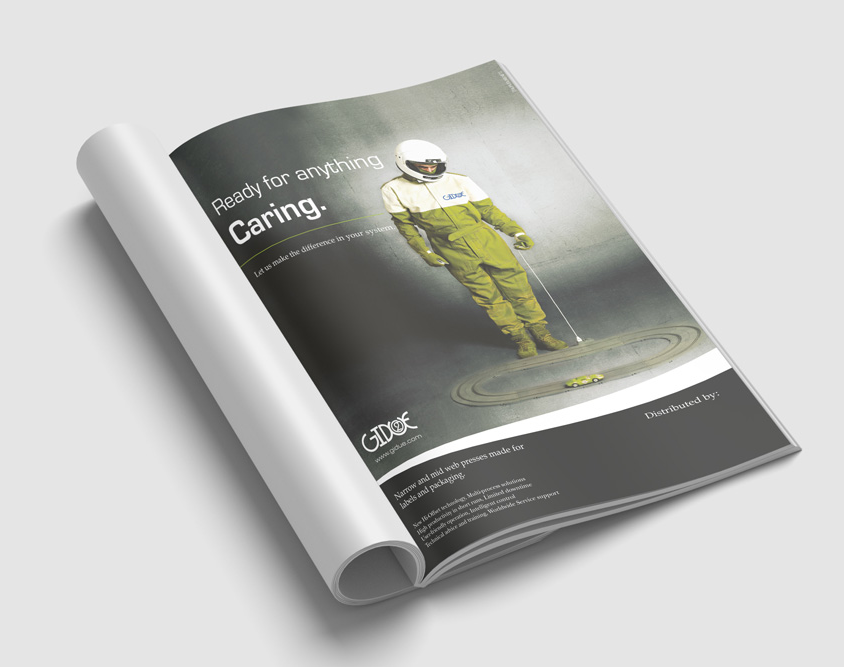 Pagina pubblicitaria GIDUE Caring