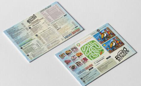Tovaglietta Ristorante Retro Burger